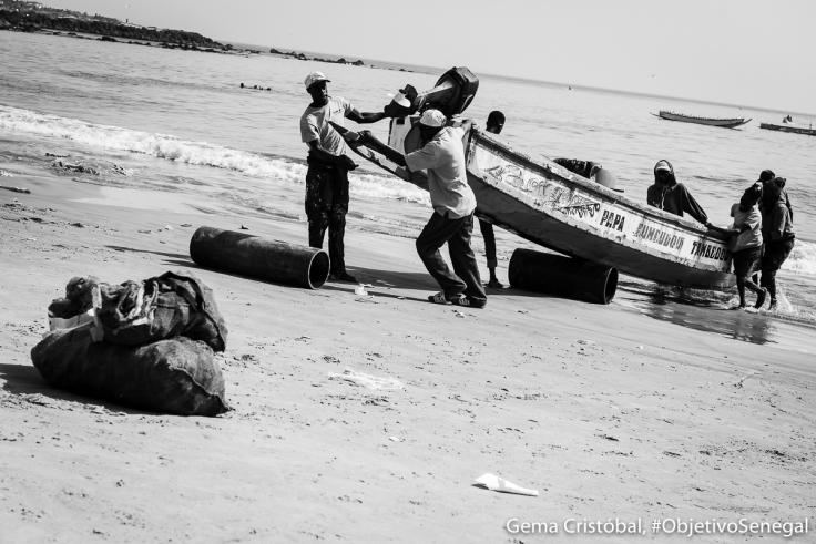 Pescadores, playa del mercado de los peces.